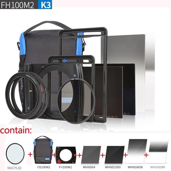 Benro FH100M2K3 100mm system Filter kit FH100M2+ND64+nd1000+GND8+R-gnd8+CPL+FBM2 Set цена