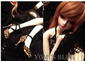 BJD Doll Sexy Leopard Cross Shoelace High Heel Girl Shoes For SD16 SD13/10 Flat Foot DD Doll Shoes SW13