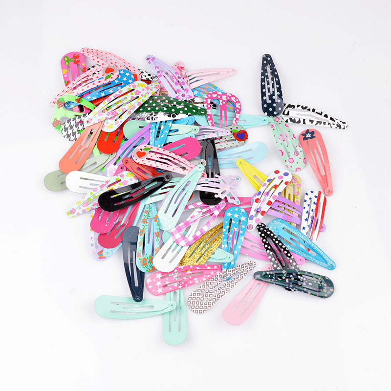 30Pcs Lot  Cute Printing BB Clips Girls' Hairpin Hair Clips For Kids  Children Hair Accessories PC002(China)