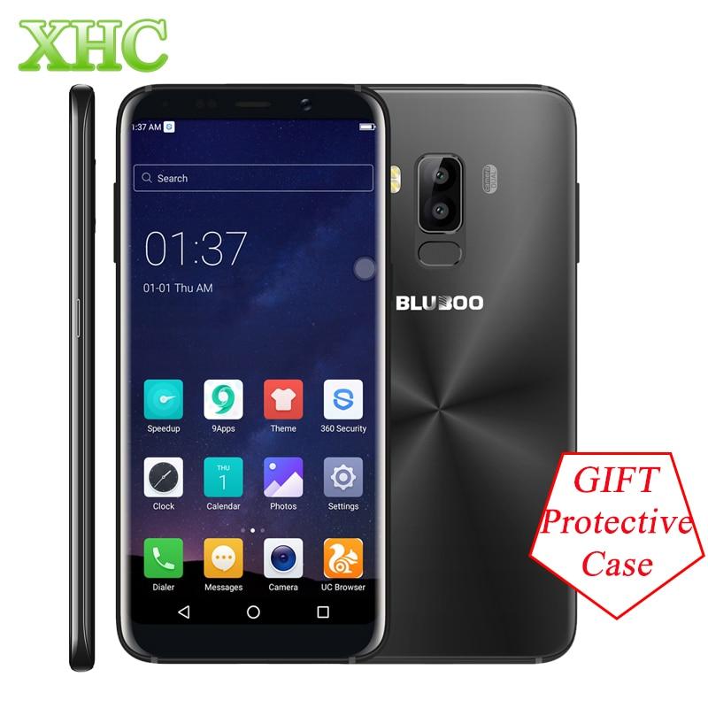 BLUBOO S8 5.7 ''18:9 Rapporto di Aspetto Del Telefono Mobile MT6750T Octa Core 3 GB + 32 GB Dual 13MP Posteriore camera 3450 mAh Impronte Digitali Smartphone