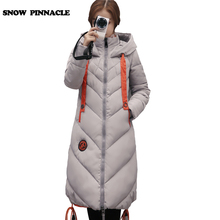 SNOW PINNACLE 2017 winter jacket women Long thicken Warm Parkas female hooded cotton padded jacket coat