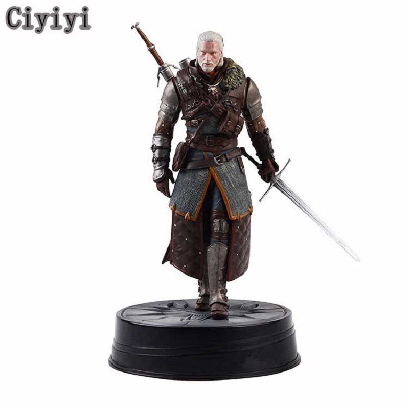 THE WITCHER 3 Pvc figurine affichage jouets Anime nouveauté cheval foncé Deluxe chasse sauvage: Geralt Grandmaster Jouet