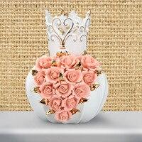 Европейском стиле садовая мебель творческий стиль наклейки керамической ремесел керамические вазы Спальня Гостиная украшения