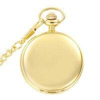 37.5 cm Chaîne Or Bronze Polissage Montre De Poche Mouvement Quartz Horloge Collier de Poche & Fob Montre Pendentif Chandail Chaîne Femmes