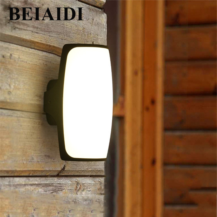 BEIAIDI 12W Outdoor Garden Porch Led Wall light Waterproof Balcony Gateway Wall Lamp Aluminum Villa Hotel Building Exterior LampBEIAIDI 12W Outdoor Garden Porch Led Wall light Waterproof Balcony Gateway Wall Lamp Aluminum Villa Hotel Building Exterior Lamp