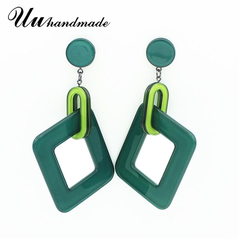 Earings Long Acrylic big Earrings Fashion jewelry wholesale custom Drop For Women Earings Brincos Pendientes Mujer