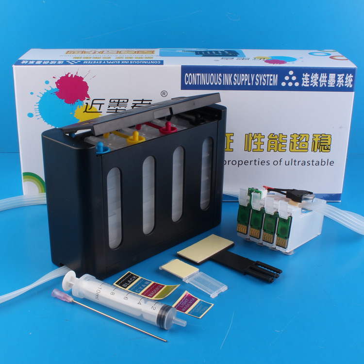 Universal 4Color Continuous Ink Supply System CISS kit with full accessaries bulk ink tank for EPSON ME10 ME101 printer CISS