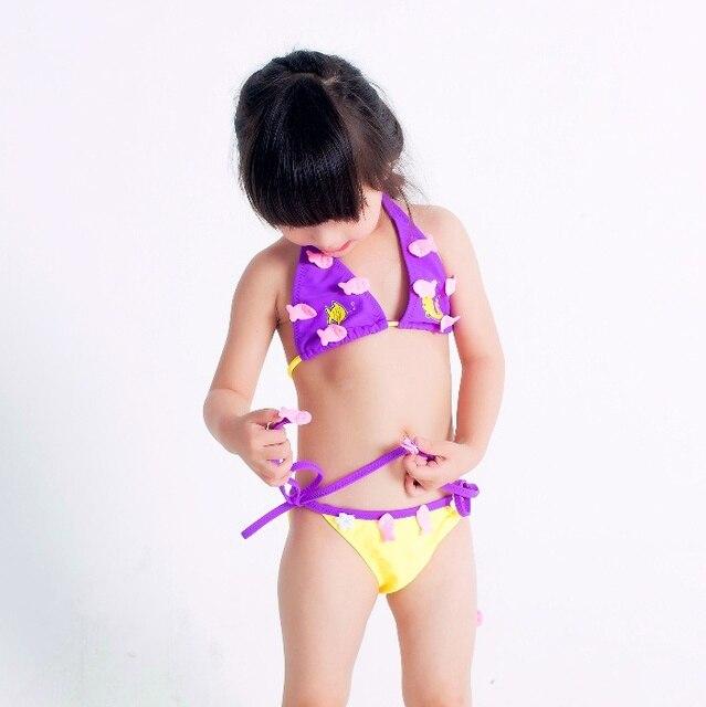 36415fca5b13f جميلة الاطفال ملابس السباحة بيكيني جودة الفتيات الطفل ملابس السباحة  المراهقين اثنين قطع الأسماك تصميم الرضع