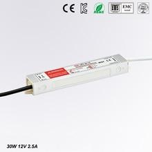 цена на LED Driver Power Supply Lighting Transformer Waterproof IP67 Input AC170-250V DC 12V 30W Adapter for LED Strip LD504