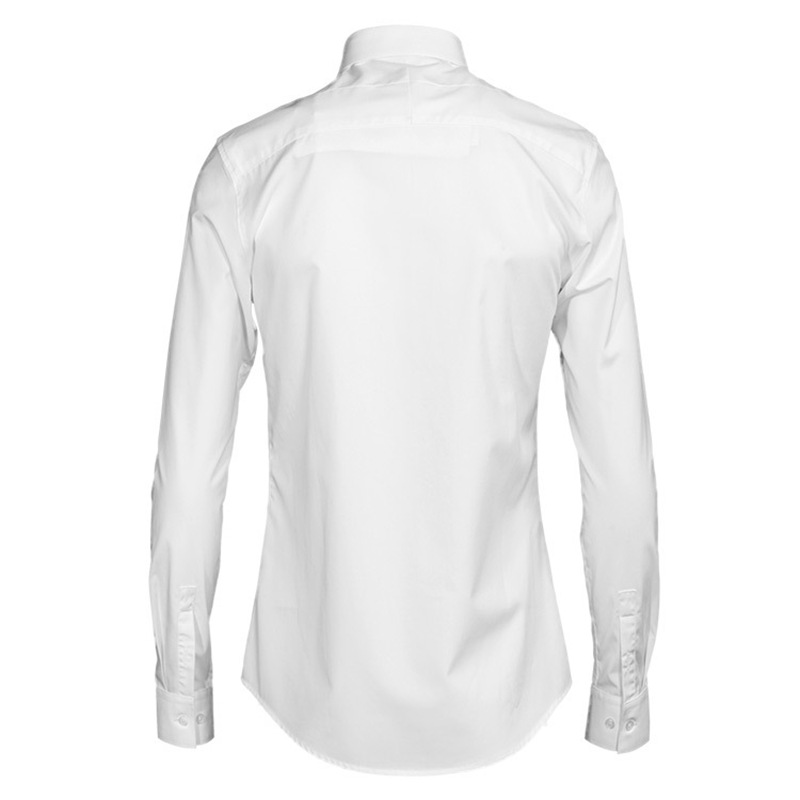 9ba00778f19 White Shirt Men Casual Long Sleeve Dress Shirts Fashion Chemise Homme  Italian Cotton Slim Fit Plain Camisa Social Formal shirts-in Casual Shirts  from Men s ...