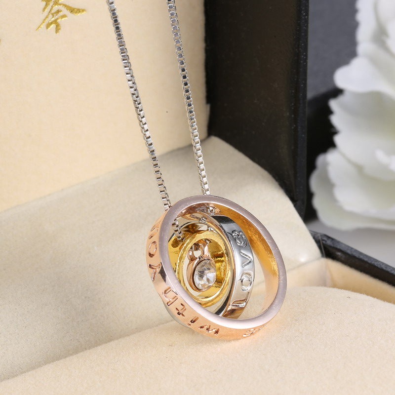 Rinhoo Hot Fashion Circles Necklaces Pendants Crystals Romantic Letter  Jewelry Valentineu0027s Day Gifts For Love In Pendants From Jewelry U0026  Accessories On ...
