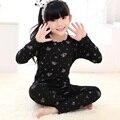 Nuevas muchachas de Los Niños niños Ropa de Algodón Establece Niños Pijamas Set girls Ropa de Manga Larga Otoño ropa de Dormir de invierno