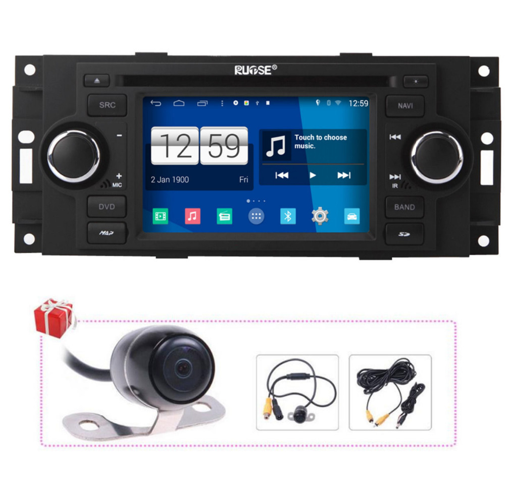 Vehicle Stereo Gps Navigation For Chrysler 300c Jeep Dodge: 5in HD Android 4.4.4 Autoradio GPS Navigation DVD For Jeep