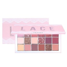 18Colors brown nude and brick red soft glam eyeshadow makeup palette for beginner matte shimmer