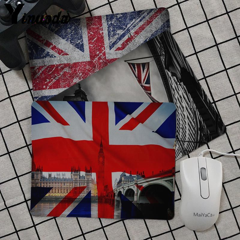Yinuoda Cool New British Flag Customized MousePads Computer Laptop Anime Mouse Mat Top Selling Luxury Print Gaming Mousepad