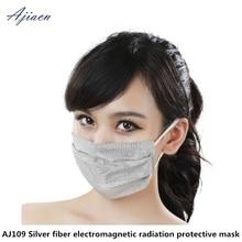 להגן על פנים בריאות קרינה הנשמה מגן בית חשמליים EMF מיגון כסף סיבי מסכת נשימה