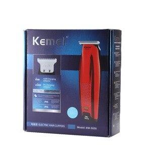 Image 5 - Kemei Professional Hair Clipper Cordless 0mm Baldheaded Hair Beard Trimmer Precision Modelling DIY Hair Cutter Haircut Machine