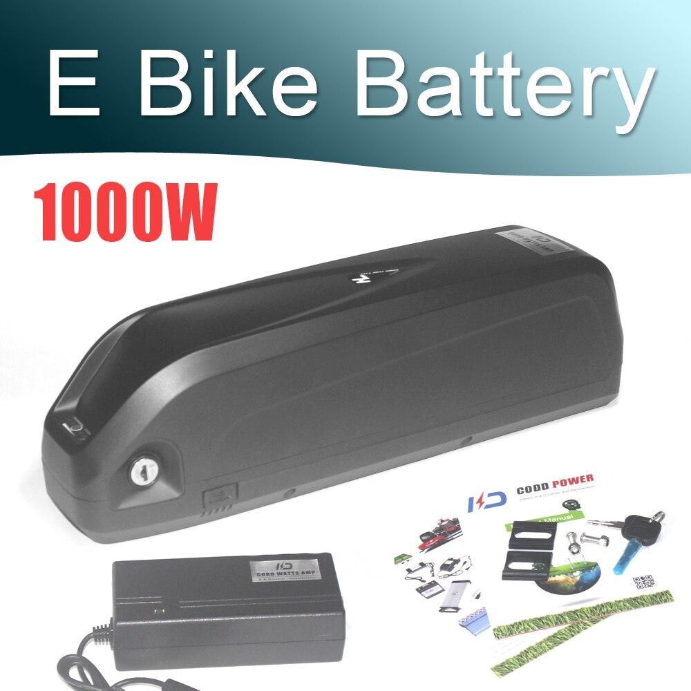 Vélo électrique 48 V 17Ah batterie 36 V 52 V 17Ah intégré dans les cellules Samsung 18650 pour le Kit de moteur de vélo à entraînement moyen de moyeu Ebike