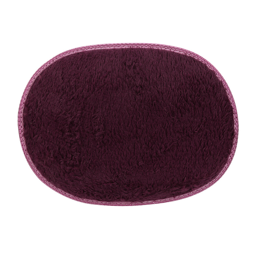 30*50cm 13 Color Oval Shaped Simple Anti Skid Fluffy