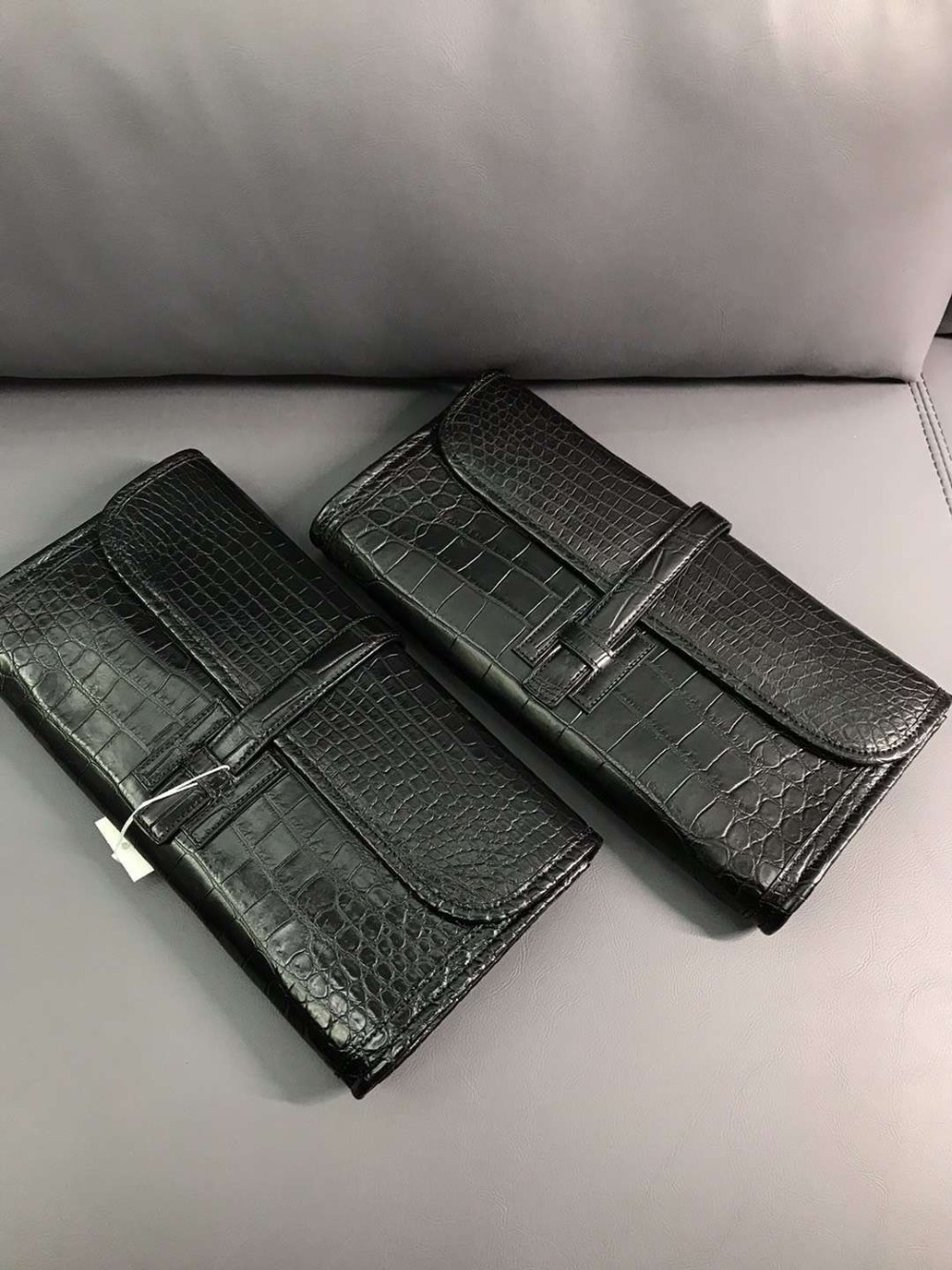 100% REAL genuine crocodile leather skin women wallet long size wallet evening clutch for lady black color matt crocodile skin 100% REAL genuine crocodile leather skin women wallet long size wallet evening clutch for lady black color matt crocodile skin