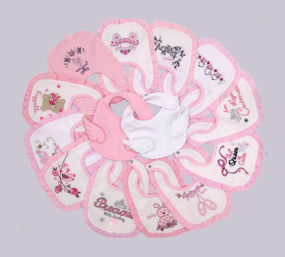 baby girl princess bibs 14 pieces/ pack , baby cotton bibs ...