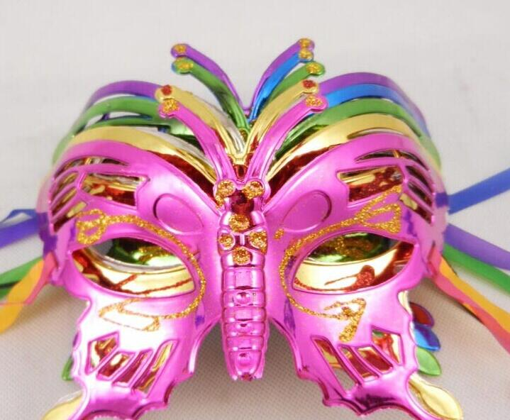 NEW Halloween Mask Children Masquerade Coloured Drawing Or Pattern Plating Butterfly Princess Ems Free In Party Masks From Home Garden On