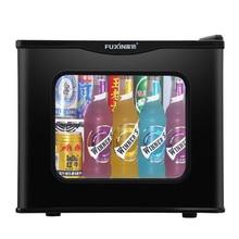 17L Mini Refrigerator Tempered Glass Single Door Cold&Warm Refrigerator Household Small Refrigeration Heating Sample Cabinet