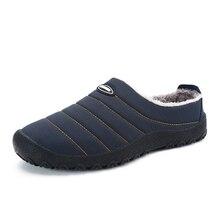 Christmas Winter Men Shoes Warm Plush Home Slippers Flip Flops Indoor Waterproof Outdoor zapatos de hombre