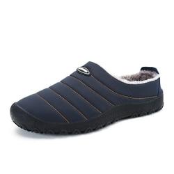 Christmas Winter Men Shoes Warm Plush Home Slippers Men Flip Flops Indoor Slippers Waterproof Outdoor Shoes zapatos de hombre