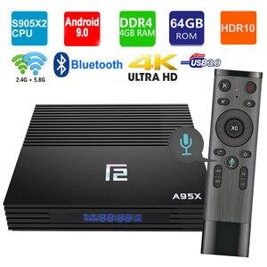 Image 1 - 2019 أحدث أندرويد 9.0 صندوق التلفزيون A95X F2 Amlogic S905X2 4K الذكية التلفزيون صندوق التشغيل 4GB 64GB 2.4G & 5G المزدوج واي فاي PK X96 H96 مشغل الوسائط