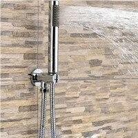 Bathroom Water Saving Shower Head Round Hand Shower Kit Bracket Holder Outlet Shower Head Handset&Hose Handheld The Filter