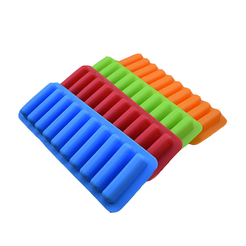 10 Strip Cake Mold Cute Flexible Silicone Chocolate Mould DIY Cookie Mould Cylinder Cube Stick Bottle Tray Baking