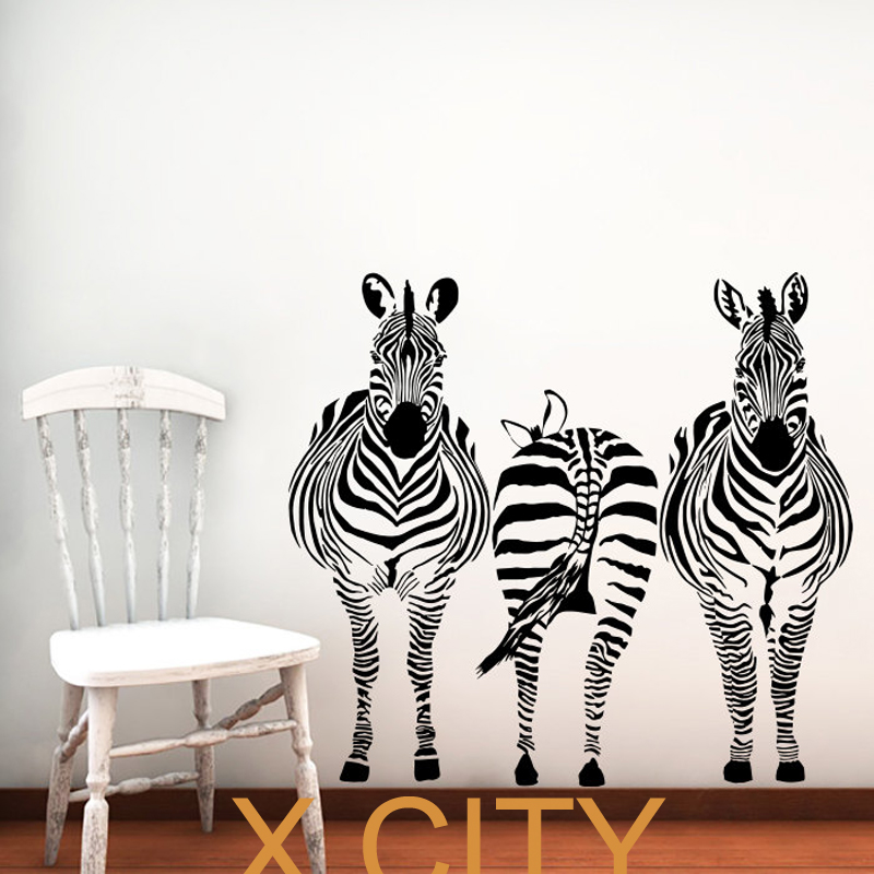 Zebra Animals Jungle Safari African Vinyl Wall Decal Art - Vinyl wall decals animals