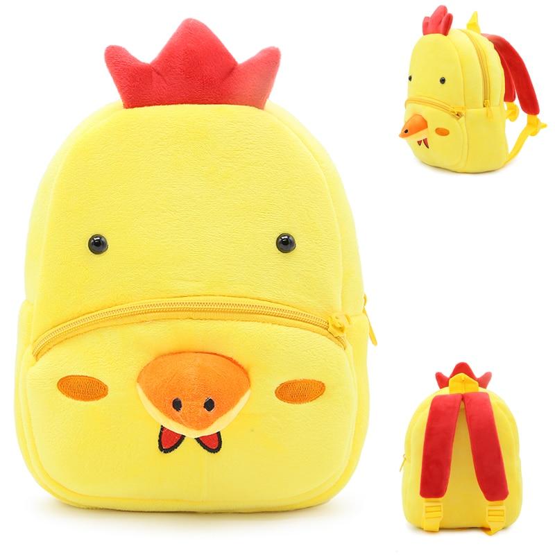 Fluffy Cartoon Plush Backpack School Nursery Rucksack Perfect Gift for Girls Toy