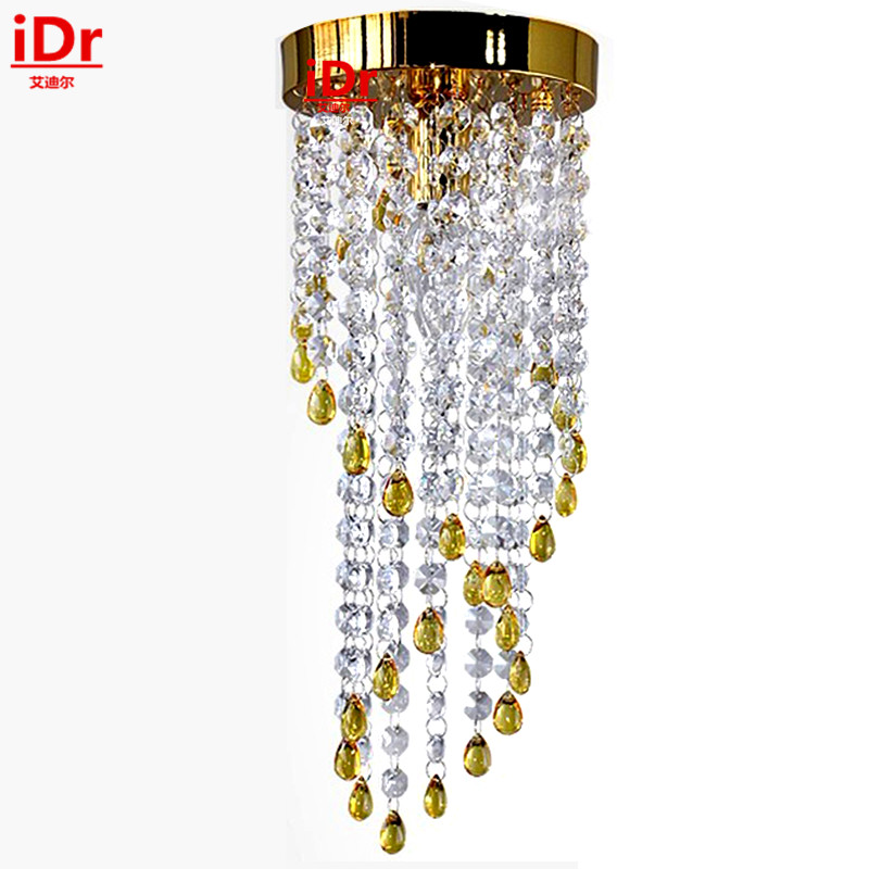 Fashion gold chandelier living room lamp bedroom modern minimalist dining room lights crystal lighting LED energy-saving lamps vemma acrylic minimalist modern led ceiling lamps kitchen bathroom bedroom balcony corridor lamp lighting study