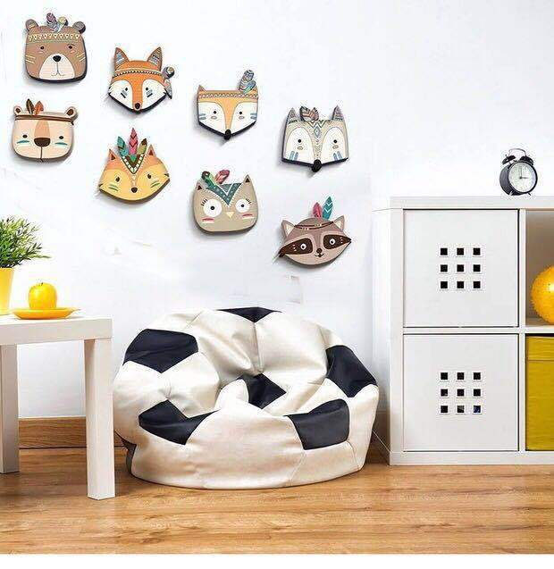 Nordic Style Nursery Kids Room Boho Tribal Indian Cartoon Fox Owl Bear Wall Prints Wall Decoration For Kids Baby Room Decoration