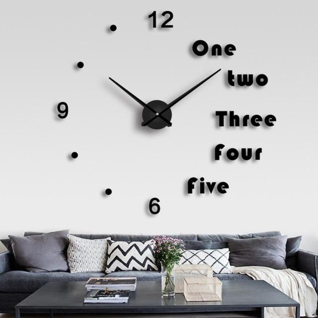 diy eva jam dinding 3d stiker rumah tangga diam besar busana ukuran