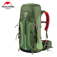 Naturehike 55L Outdoor Backpack With Professional Rain Cover 76x32x23cm Adjustable Band Shoulder Expedition Bag 1.92kg