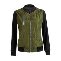 3 Colors Slim Women Basic Coats Chic Bomber Jackets Zipper Autumn Winter Coat Jacket American Apparel