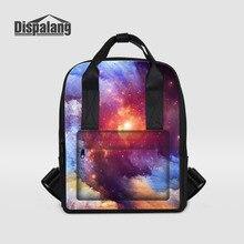 Dispalang женщины рюкзак для девочек школьная сумка для подростков Stars Вселенная Космос печати женский ноутбук рюкзаки для студентов колледжа