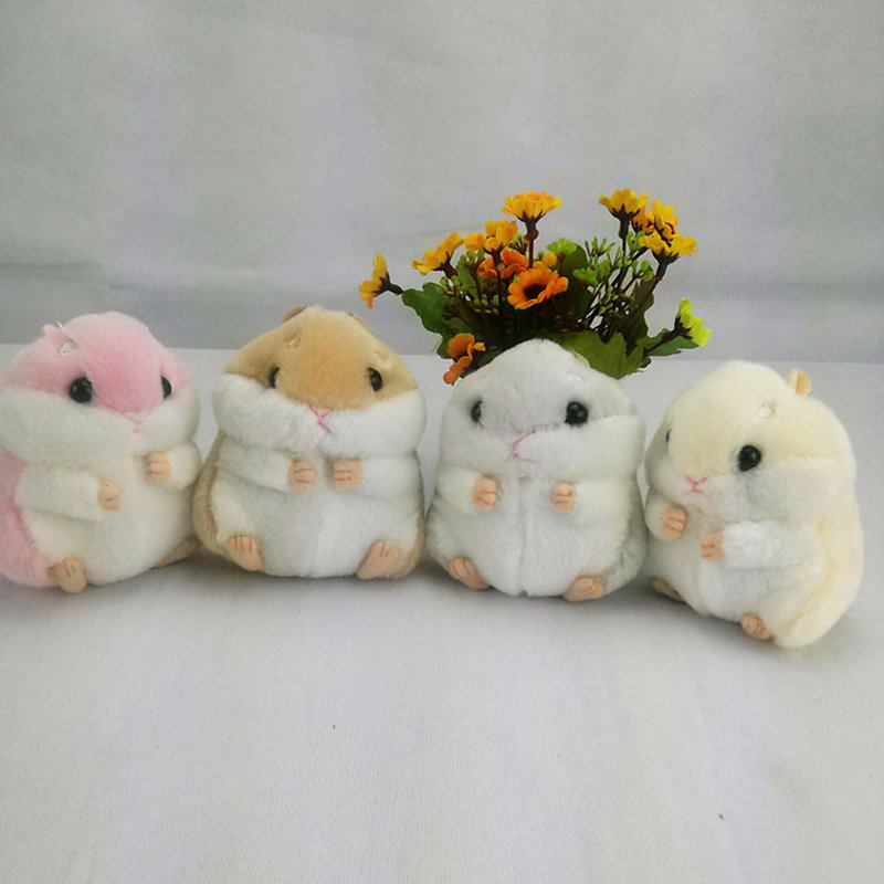 12CM Super Kawaii Hamster DOLL Plush Stuffed TOY DOLL Sucker Car Room Window Pendant Bouquet TOY DOLL Decorative pendant 2pcs 12 30cm plush toy stuffed toy super quality soar goofy