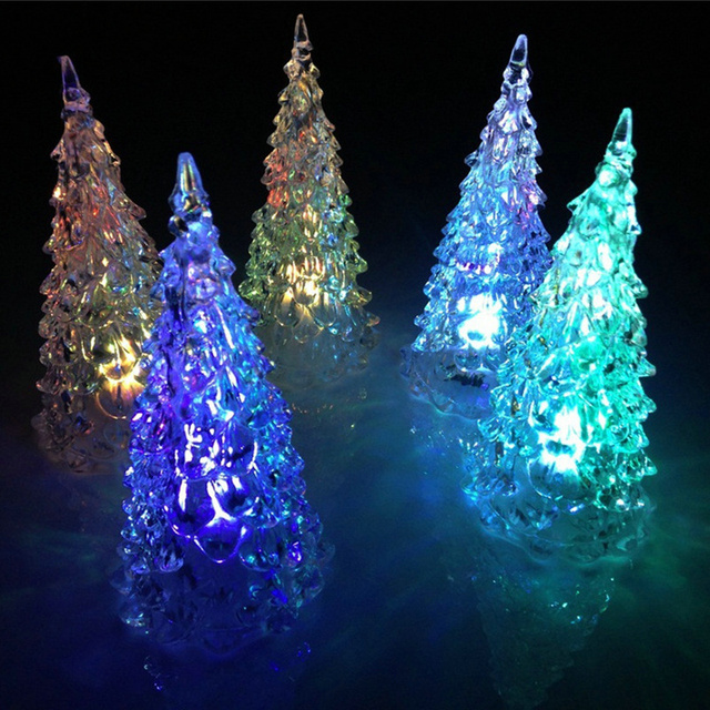 7 color changing christmas xmas tree color changing led light lamp new year colorful christmas party