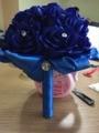 2017 Royalblue Wedding Bouquet Crystal Artificial Wedding Bouquets Wedding Accessories Rose Flowers De Mariage Bridal Bouquet