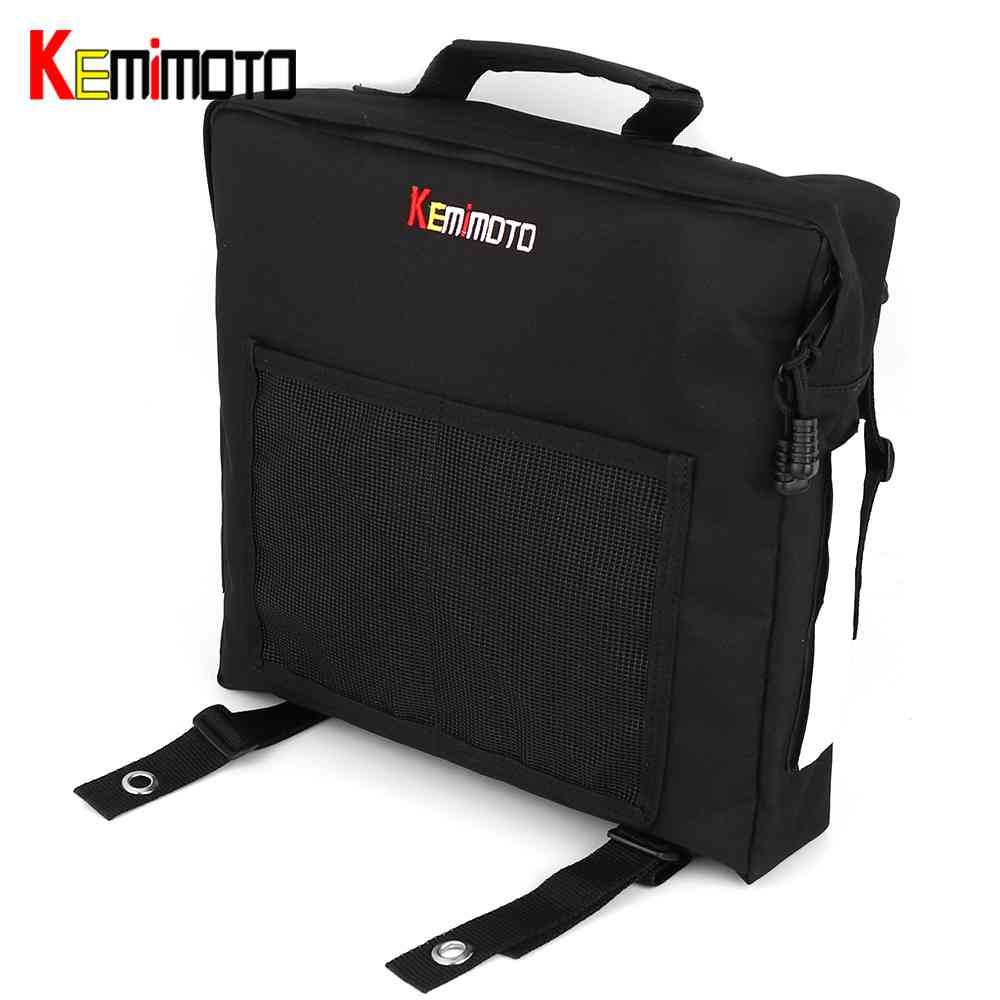 KEMiMOTO For Polaris RZR XP S 800 900 1000 UTV Passenger Driver Side Door Bag Side Storage Bag Door Mount Storage Bag UTV Bag
