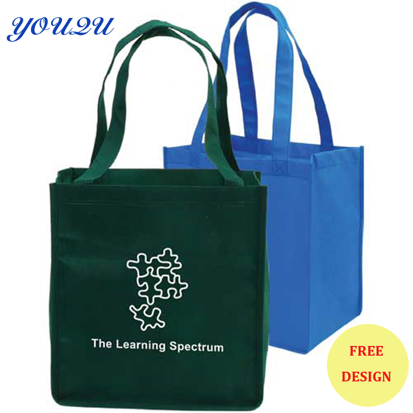 Solid Color Non Woven Bag, Non Woven Tote Bag, non woven grocery bag lowest price+escrow accepted