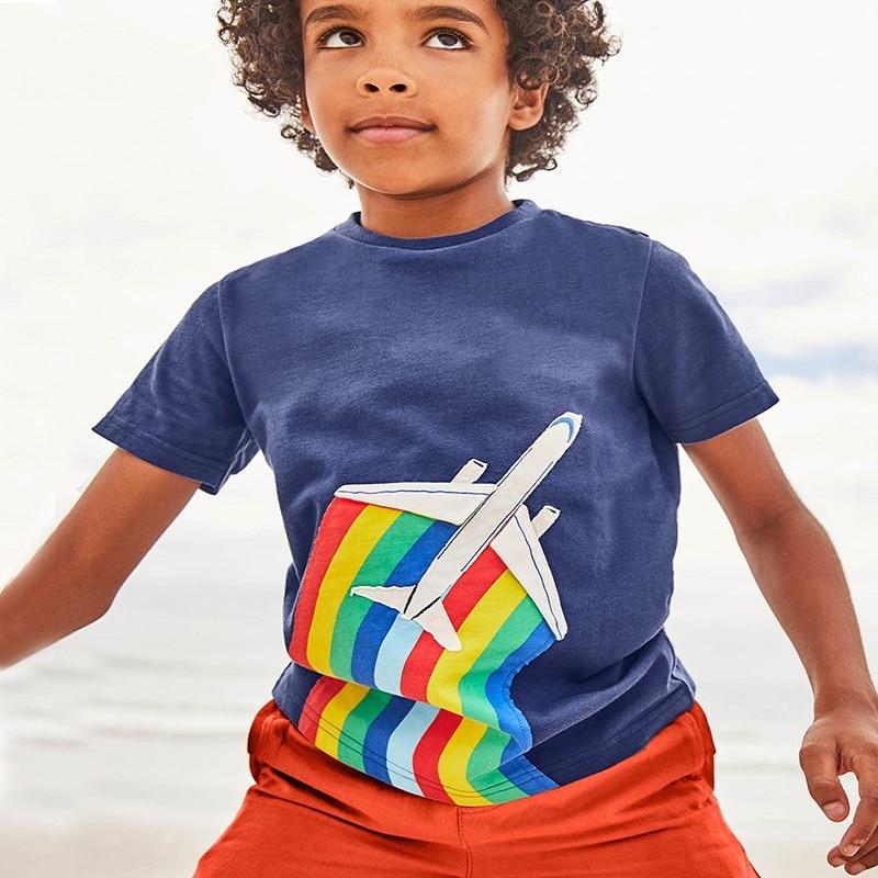 Baby Summer Top 100% Cotton Tee Shirt Fille Fashion Boys T Shirt Garcon Cartoon Pattern Kids Clothes Dinosaur Toddler Boy Shirts
