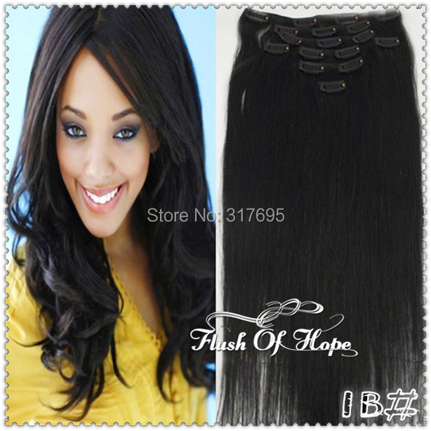 22 100gramset 8pcsset 17clips In Remy Real Hair Extensions Silky