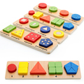 2016 Juguetes Baby Jigsaw 1-4y Children Early Childhood Educational Building Model Toys Geometry Shape Plate Picture Puzzle Toy
