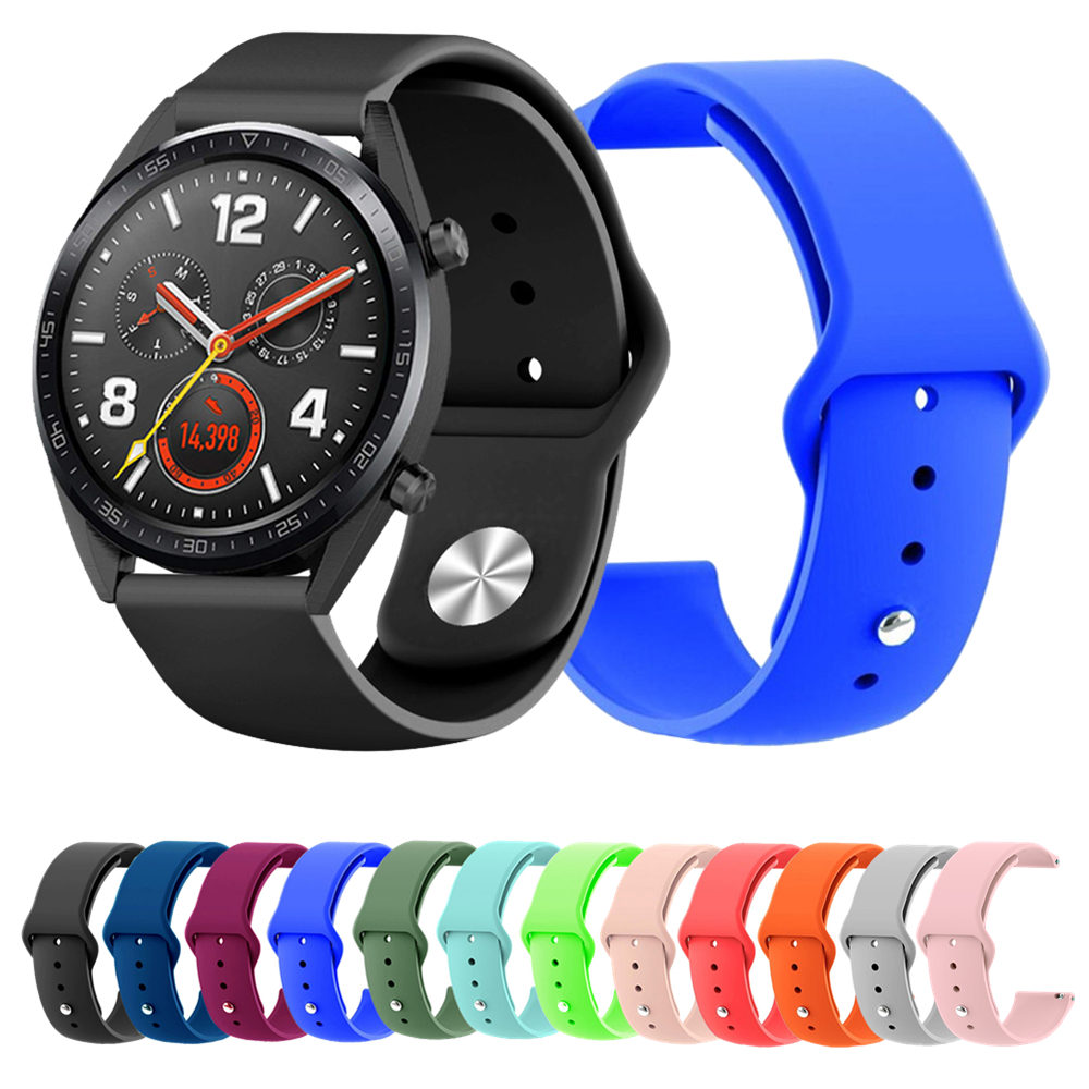 Watch Band For Huawei Watch GT Active/Elegant Strap Silicone Sports Wristband Wrist Strap For Huawei Honor Watch Magic Bracelet