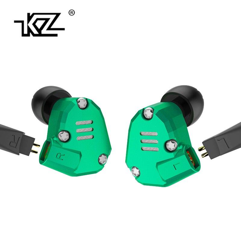 Original KZ ZS6 2DD+2BA Hybrid In Ear HIFI DJ Monito Running Sport Earphone Earplug Headset Earbud New KZ ZS5 Pro Metal Earphone